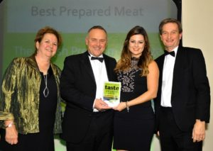 021116 Winners of the Best Prepared Meat at the deliciouslyorkshire and Yorkshire Post Taste Awards at the Pavilions in Harrogate, in association with How's Business , The British Premium Sausage Company.