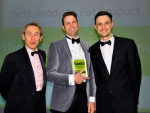 021116 Winners of the Best Ready to Eat Product at the deliciouslyorkshire and Yorkshire Post Taste Awards at the Pavilions in Harrogate, in association with Asda, The Topping Pie Company.
