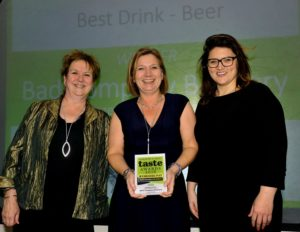 021116 Winners of the Best Beer at the deliciouslyorkshire and Yorkshire Post Taste Awards at the Pavilions in Harrogate, in association with Shepherds Purse Cheeses , Bad Company Brewery. (award accepted by Catherine Scott of the Yorkshire Post)