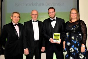 021116 Winners of the Best Yorkshire Beverage at the deliciouslyorkshire and Yorkshire Post Taste Awards at the Pavilions in Harrogate, in association with Yorkshire Agricultural Society, Manor Farm Jerseys.