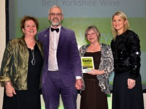 021116 Winners of the Best Yorkshire Wine at the deliciouslyorkshire and Yorkshire Post Taste Awards at the Pavilions in Harrogate, in association withShepherds Purse Cheeses , Ryedale Vineyards.