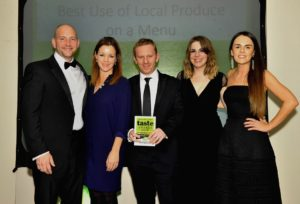 021116 Winners of the BestUse of Local Produce on a menu at the deliciouslyorkshire and Yorkshire Post Taste Awards at the Pavilions in Harrogate, in association with Asda, Yorebridge House Bainbridge .