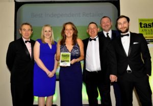 021116 Winners of the Best Independent Retailer at the deliciouslyorkshire and Yorkshire Post Taste Awards at the Pavilions in Harrogate, in association with Engine Room, Berts Barrow, Hillam.
